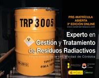 3 Edic. Online Título Universitario Experto en Gestión y Tratamiento de Residuos Radiactivos